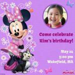 Cute Purple Minnie Mouse Birthday Invitation 150x150