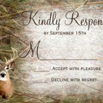 Deer Camo Wedding Invitation Sample 150x150