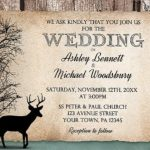 Deer Wedding Invitation Sample 150x150