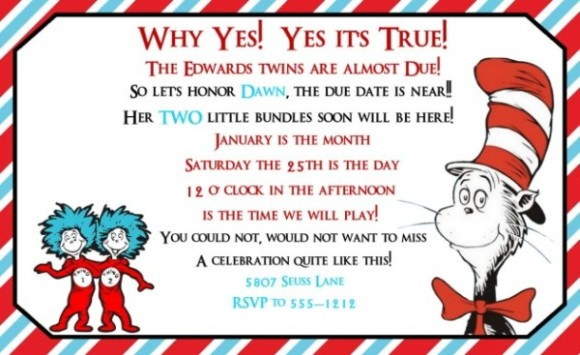 Dr seuss baby shower invitation example for twins invitations dr seuss baby shower invitation example for twins filmwisefo Gallery