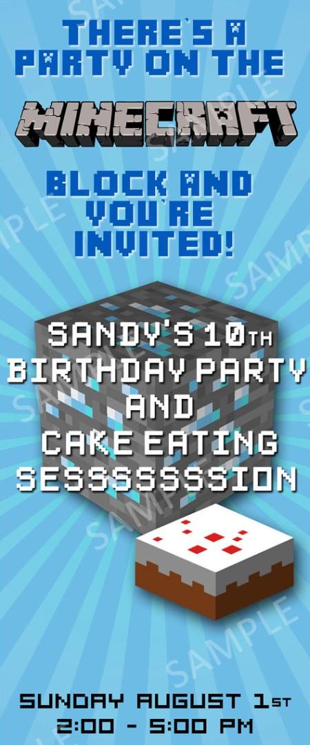 benefits of minecraft birthday party invitations