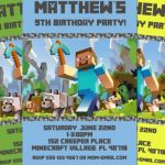 Minecraft Birthday Invite 150x150
