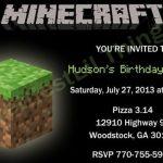 Minecraft Birthday Party Invitation Sample 150x150