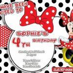 Minnie Mouse Birthday Party Invitation 150x150