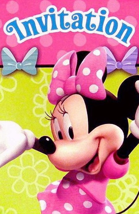 Minnie Mouse Invitation Front