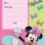 Minnie Mouse Invitation Template 150x150