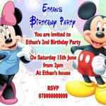 Minnie Mouse and Mickey Mouse Birthday Party Invitation 150x150
