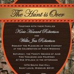 The Hunt is Over Camo Invitation 150x150