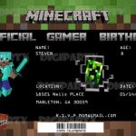 minecraft birthday invitation sample 150x150