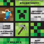 minecraft party invitation 150x150