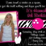 Bowling Birthday Invitation Sample with Photo 150x150