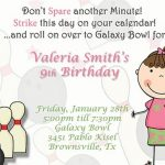 Bowling Birthday Invitation for Girls 150x150