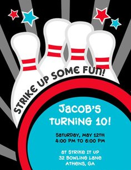 Bowling Invitation Sample  Invitations Online