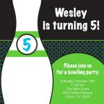 Bowling Party Invitation Example 150x150