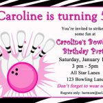 Bowling Party Invitation for Girls 150x150