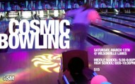 Cosmic Glow Bowling Invitation Sample 191x120
