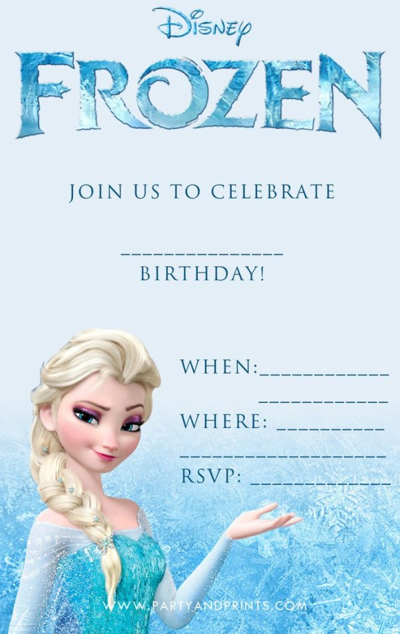 Disney Frozen Birthday Invitation Template  Online Birthday Invitations Templates