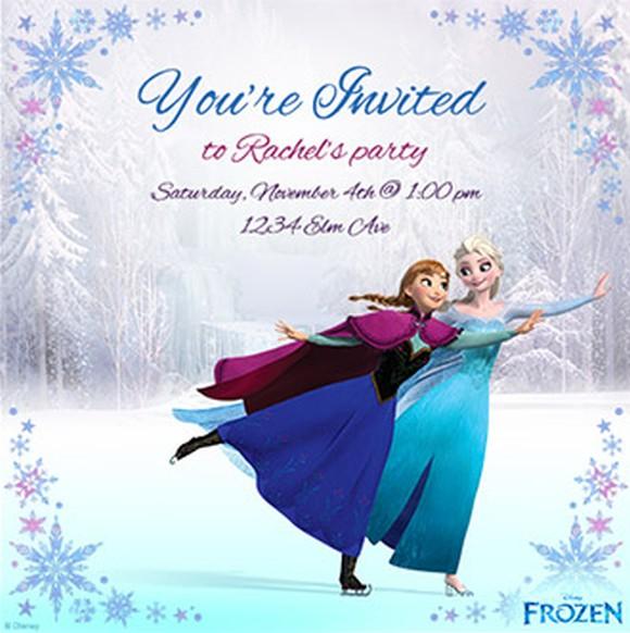 Disney Frozen Invitation