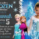 Frozen Birthday Invitation Sample with custom image 150x150