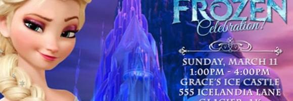 Frozen Birthday Party Invitation 580x200