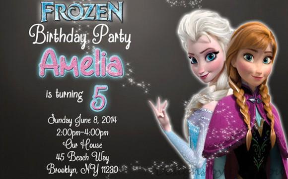 Frozen Birthday Party Invite