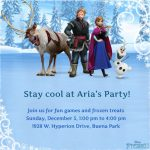 Frozen Party Invitation Example 150x150
