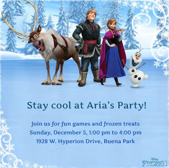 Frozen Party Invitation Example Invitations Online