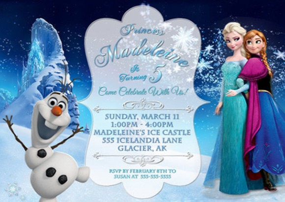 frozen party invitation sample