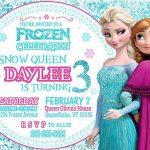 Frozen Snow Queen Girls Invitation 150x150