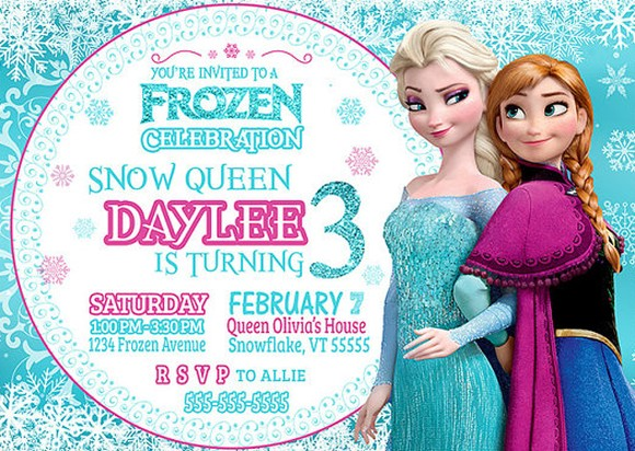 Frozen Snow Queen Girls Invitation