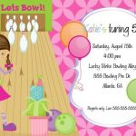 Girls Bowling Birthday Party Invitation 150x150