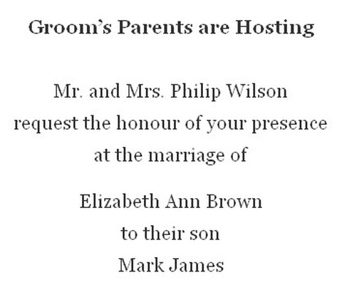 Grooms parents hosting wedding invitation wording invitations online grooms parents hosting wedding invitation wording filmwisefo Image collections