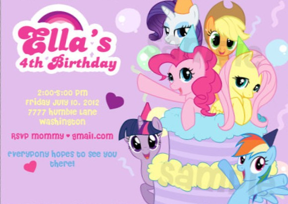 My Little Pony Girls Invitation Invitations Online