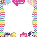 My Little Pony Invitation template 150x150