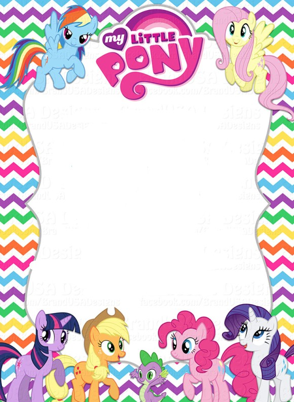 My Little Pony Invitation Template  Invatation Template