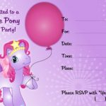My Little Pony Invite template 150x150