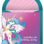 My Little Pony birthday invitation sample 150x150