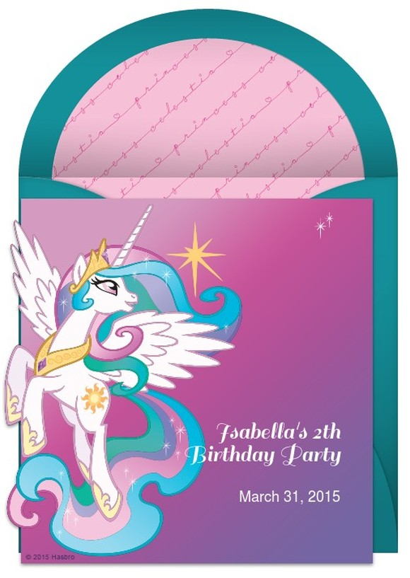 My Little Pony birthday invitation sample