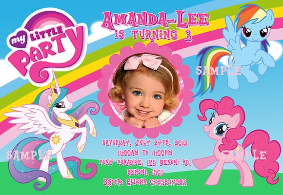 My Little Pony Party Invitation Sample