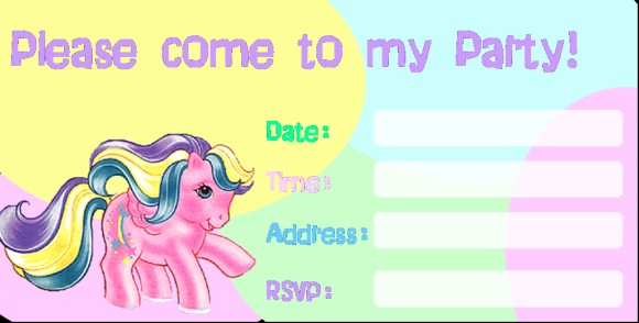 Party Invitation Template My Little Pony Theme Invitations Online - My little pony birthday party invitation template