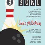 Retro Bowling Birthday Party Invitation 150x150