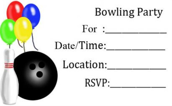 Simple Bowling Party Template