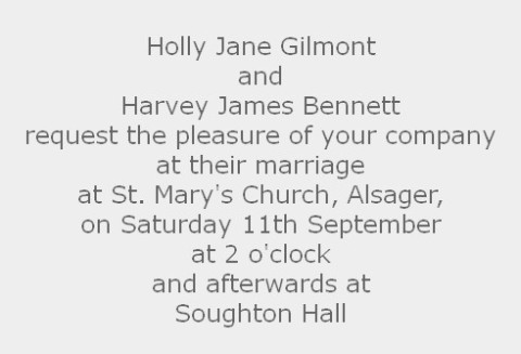 Traditional Wedding Invitation Wording 2