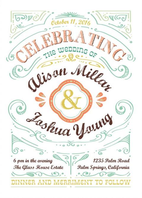 wedding invitation sample 2