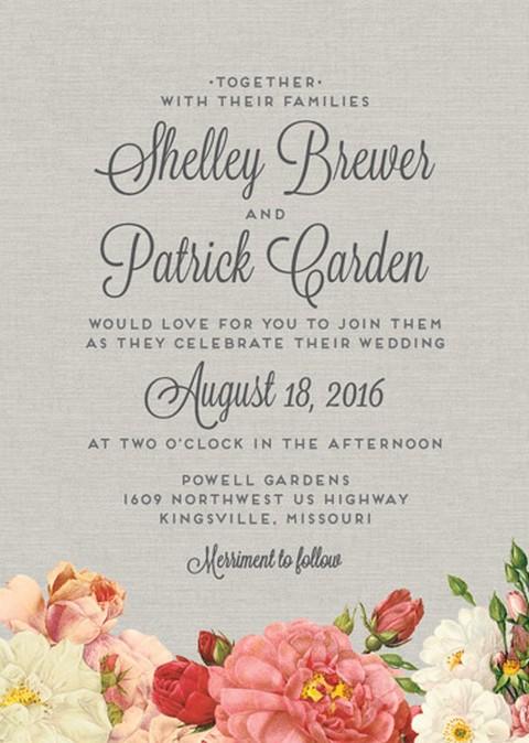 wedding invite wordings