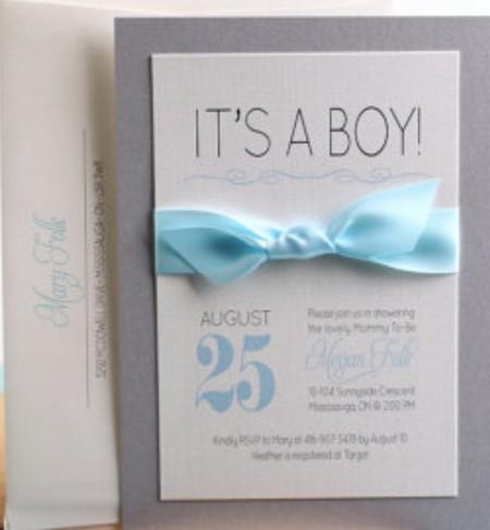 Baby Boy Etsy shoer invitation