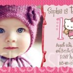 Birthday Party Invitation with photo Hello Kitty 150x150