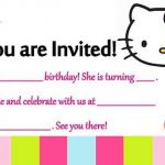 Birthday Party Template Hello Kitty 150x150