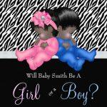 Cute Boy or Girl Gender Reveal Invitation 150x150