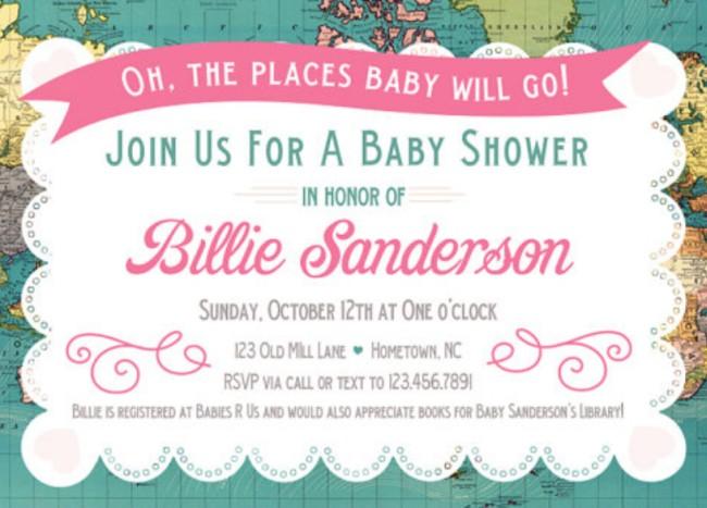 Etsy baby shower invitation